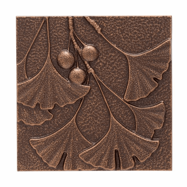 Gingko Leaf Wall Decor - Antique Copper