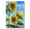 Glowing Sunflowers Metal Artwork