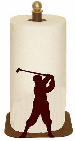 Golfer Paper Towel Holder for Countertop