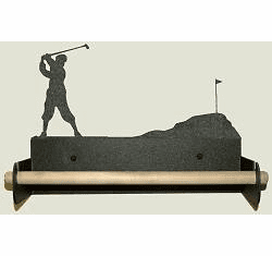 Golfer Paper Towel Holder With Wood Bar