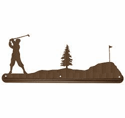 Golfer Scenery Towel Bar