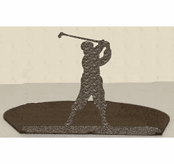 Golfer Silhouette Candle Holder