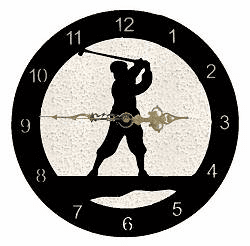 Golfer Smooth Edge Rustic Clock