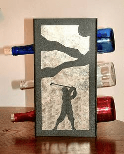 Golfer Wine Bottle Rack