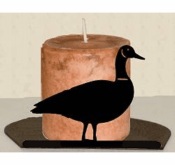 Goose Silhouette Candle Holder