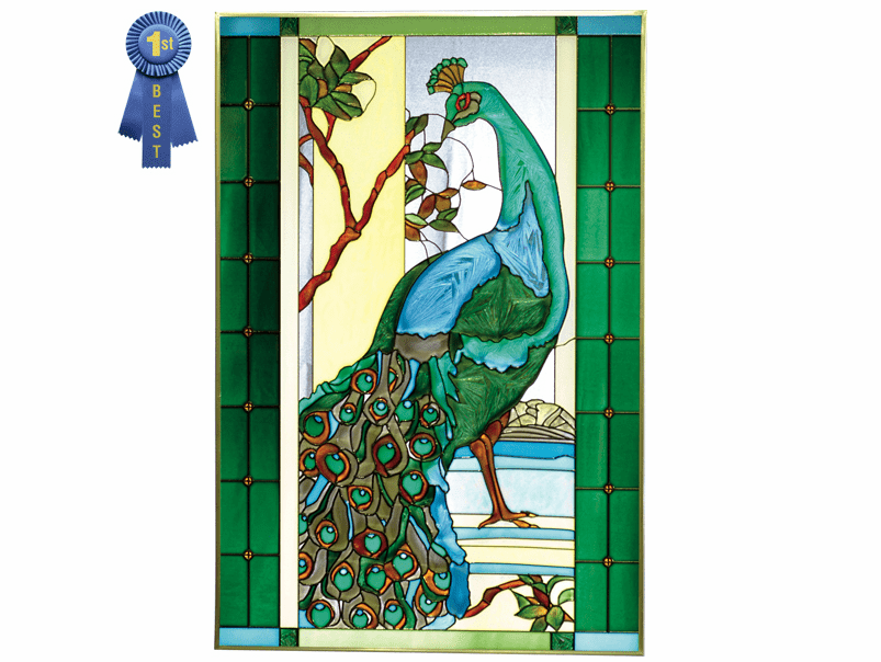 Gorgeous Peacock I Stained Glass Art Glass