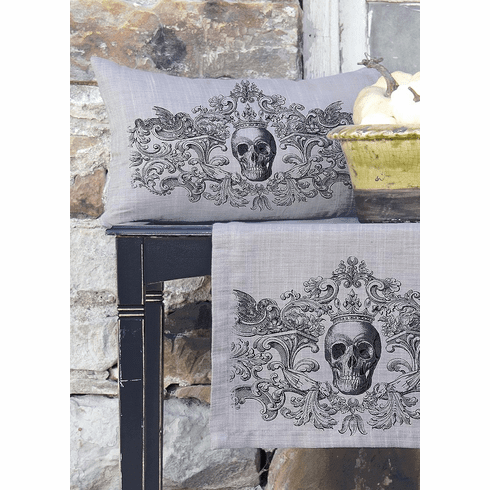 Gothic Skull Halloween Small Pillow
