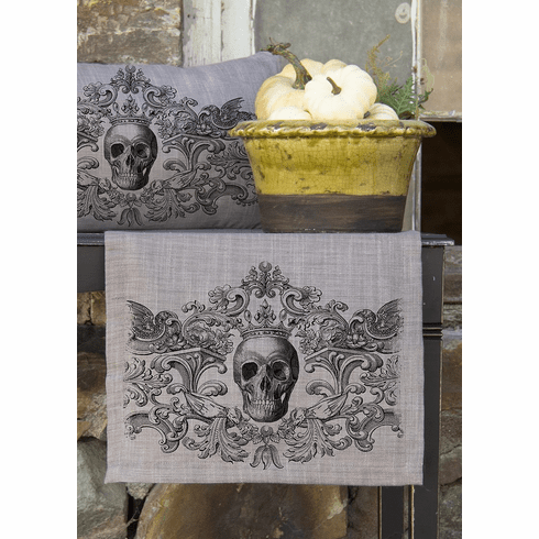 Gothic Skull Halloween Small Table Runner