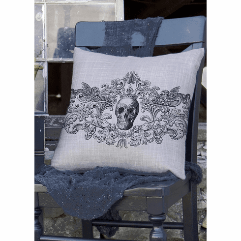 Gothic Skull HalloweenLarge Pillow