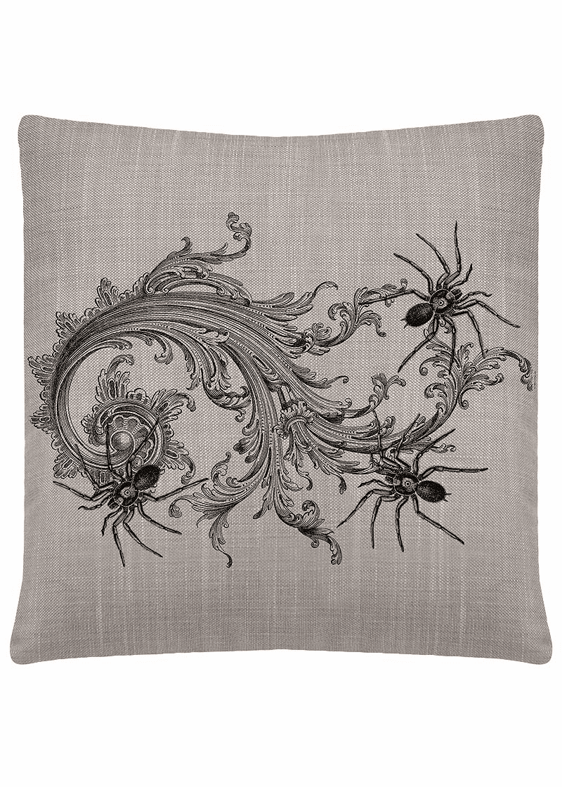 Gothic Spiders Halloween Large Pillow
