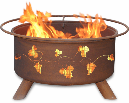 Grapevine Design Fire Pit - Deck Fire Pit Ring