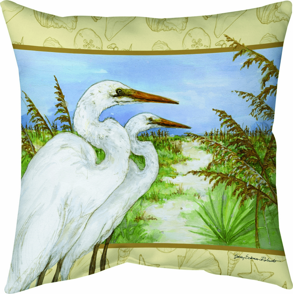 Great Egret Climaweave Pillow