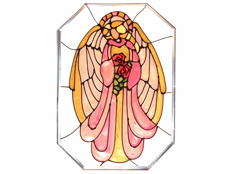 Guardian Angel Stained Glass Art Glass