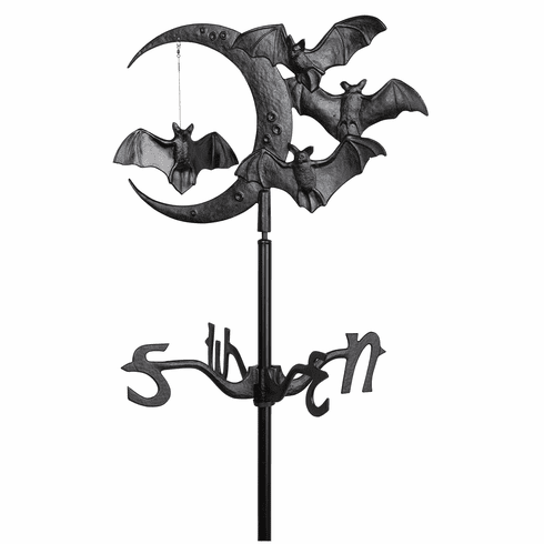 Halloween Bat Garden Weathervane - Black