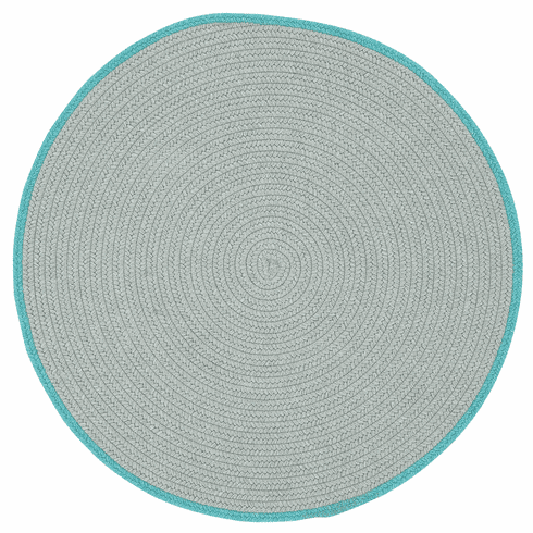 Hand-Braided Ash Ocean Blue Rug