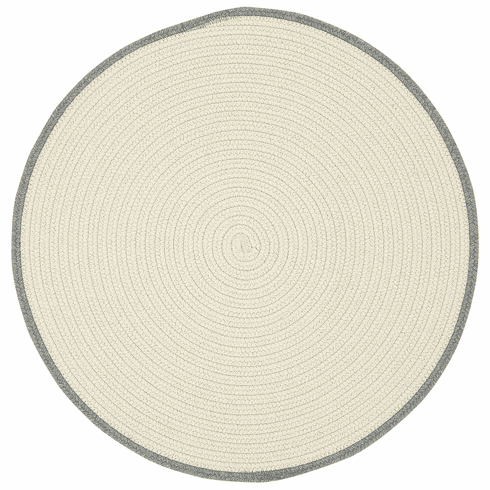 Hand-Braided Beige Smoke Rug