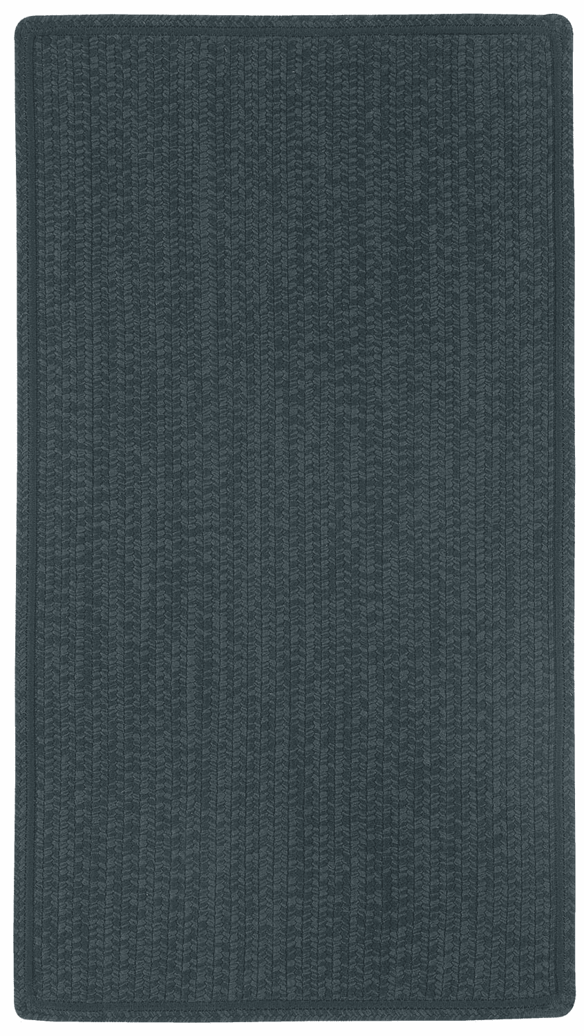 Hand-Braided Black Rug