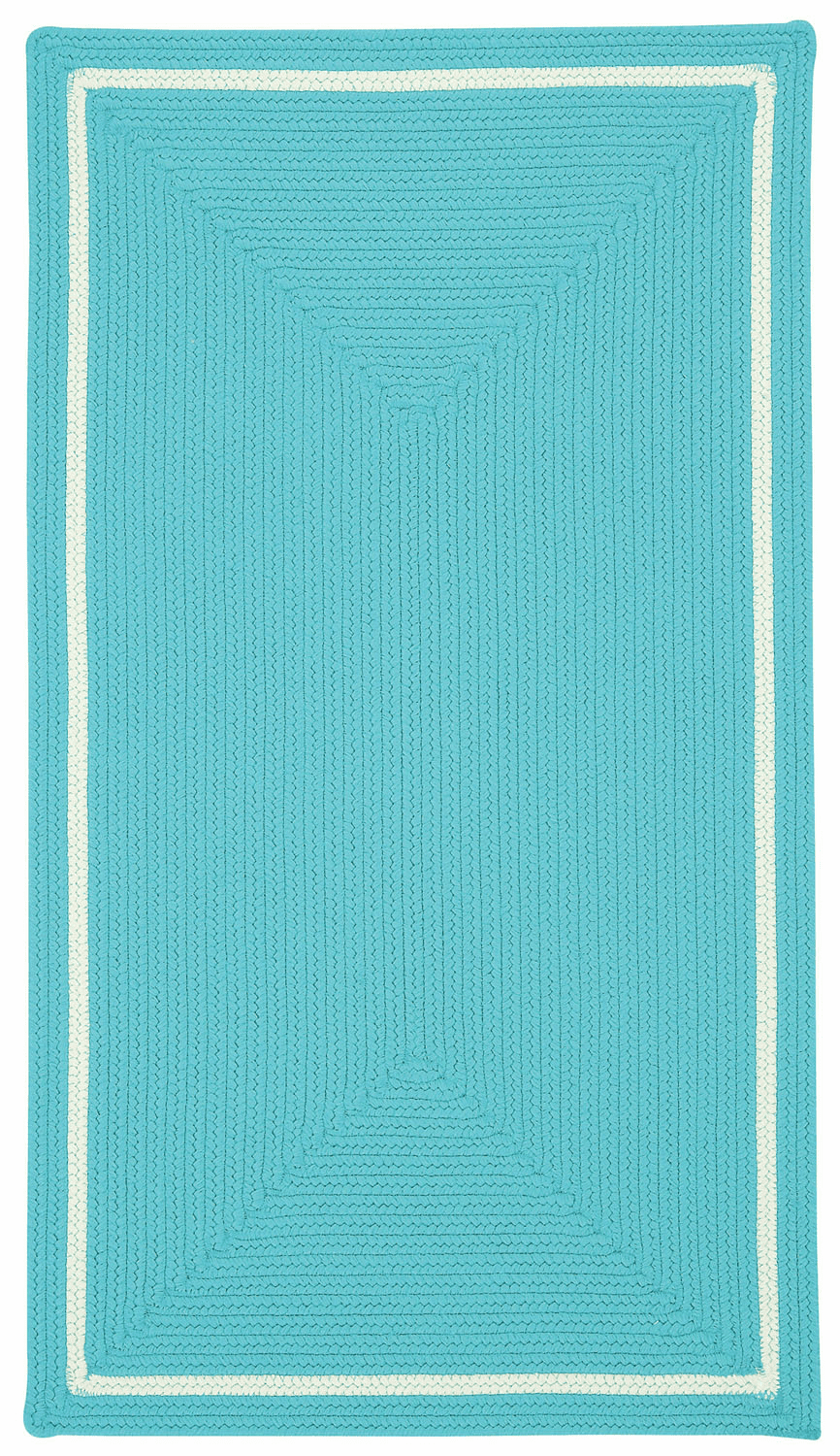 Hand-Braided Blue Green Rug