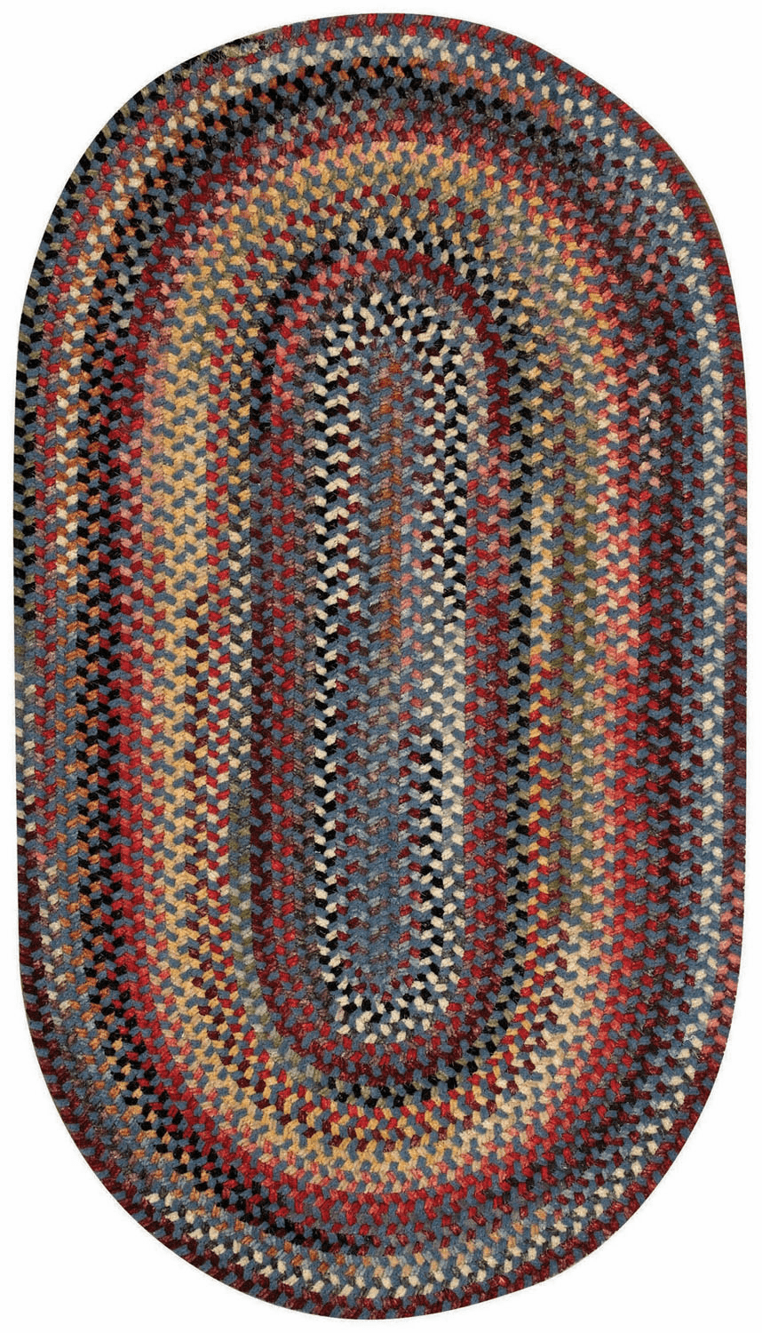 Hand-Braided Blue Rug