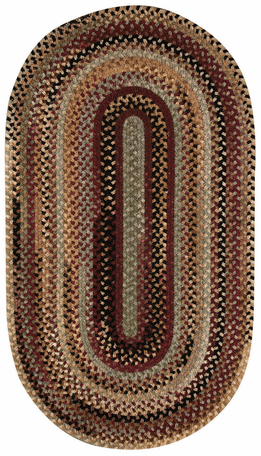 Hand-Braided Burgundy Rug