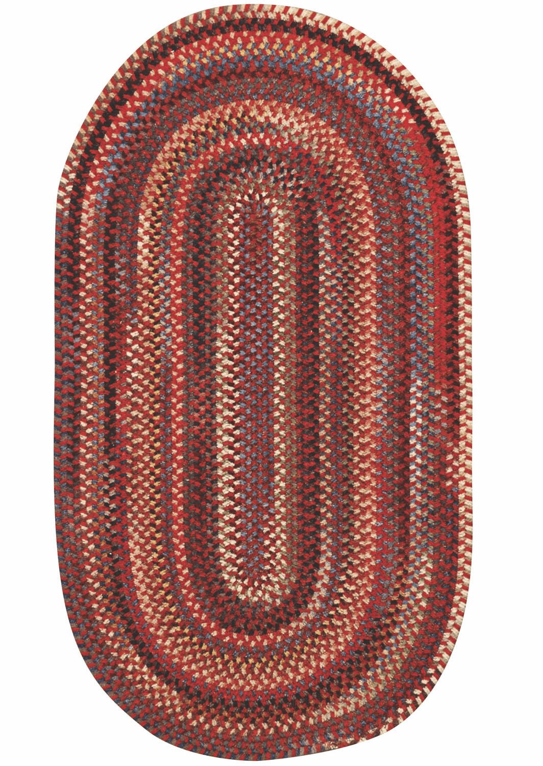 Hand-Braided Country Red Rug