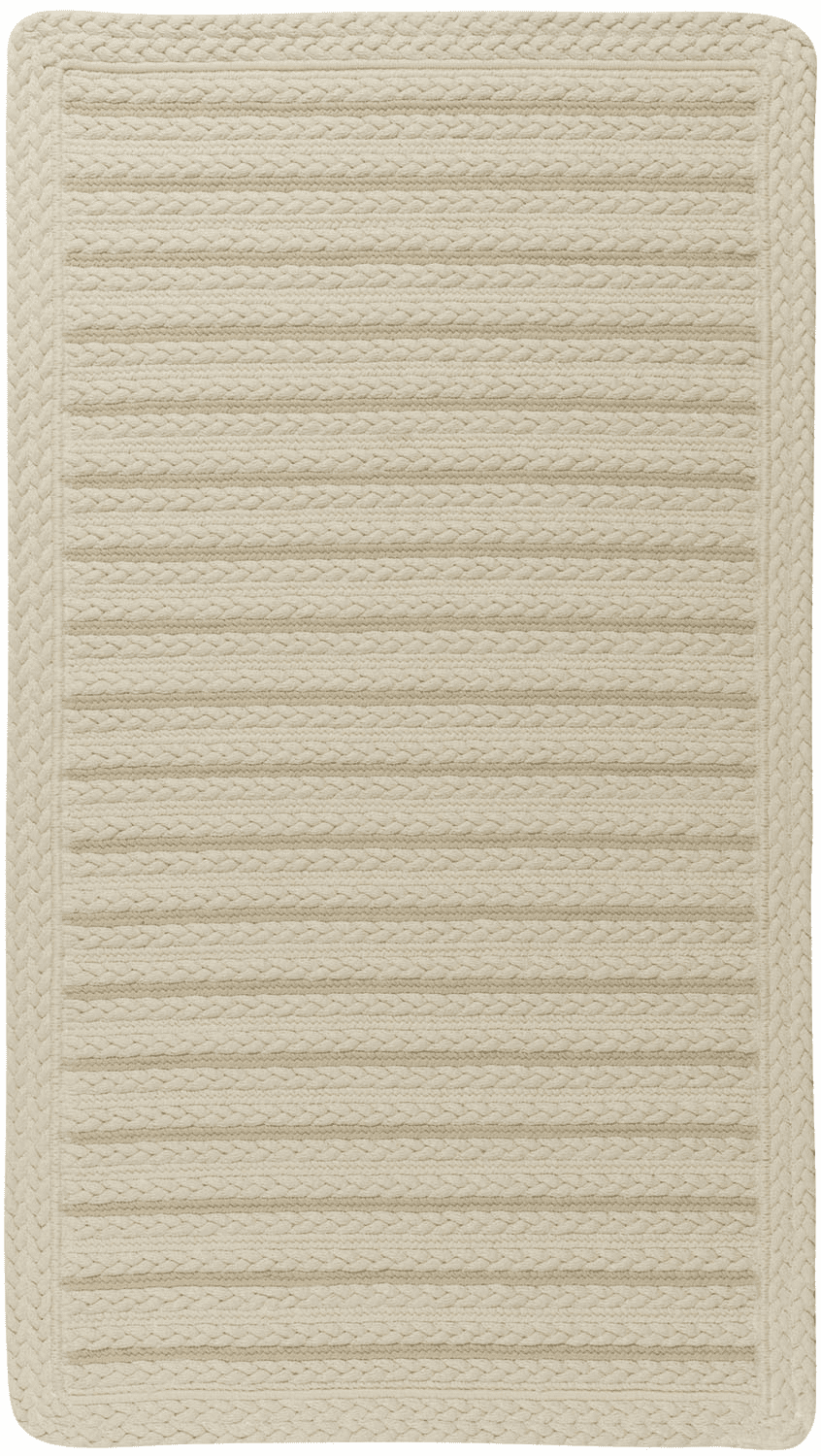 Hand-Braided Cream Rug