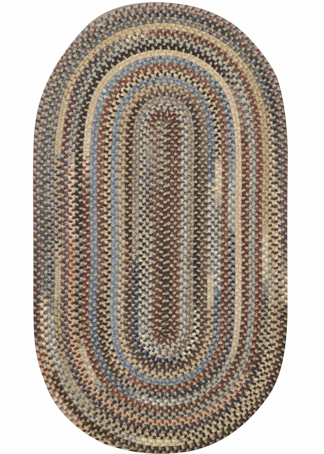 Hand-Braided Dark Beige Rug