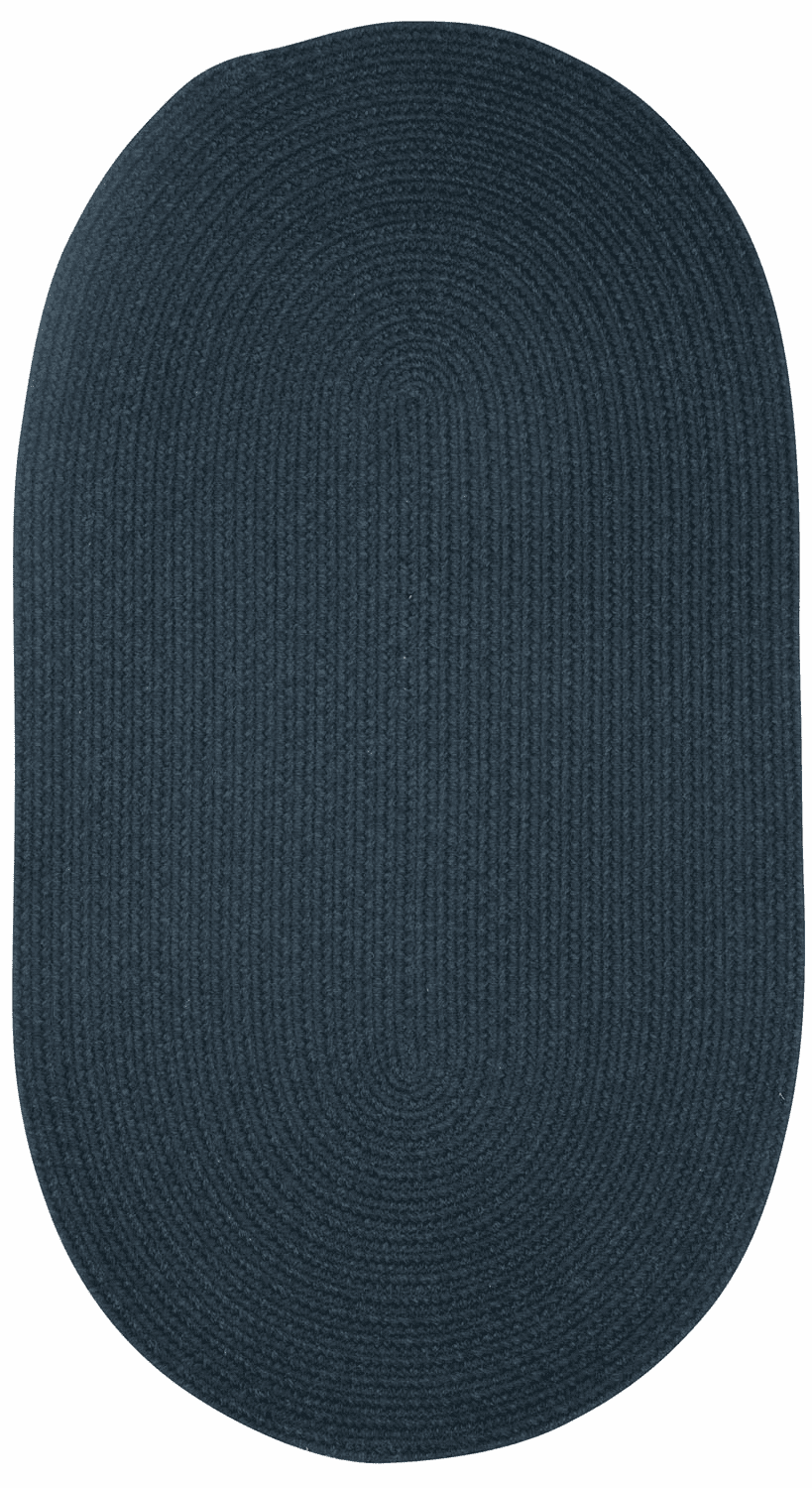 Hand-Braided Dark Blue Rug