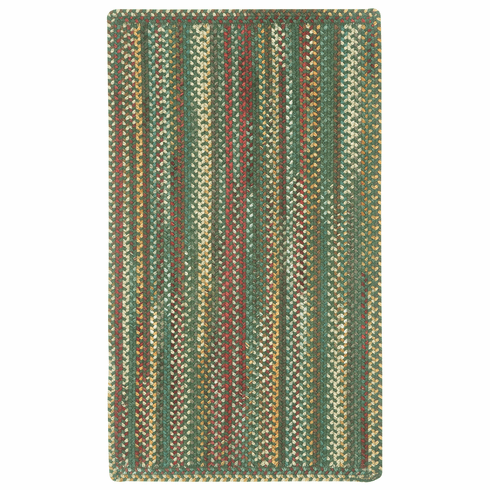 Hand-Braided Dark Green Rug