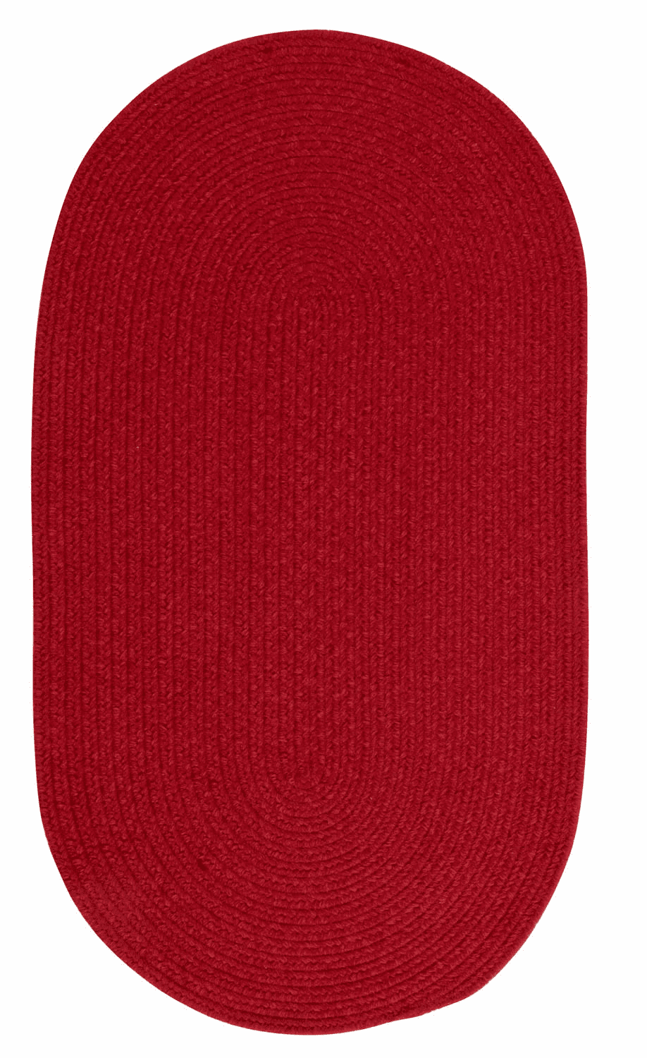 Hand-Braided Dark Red Rug