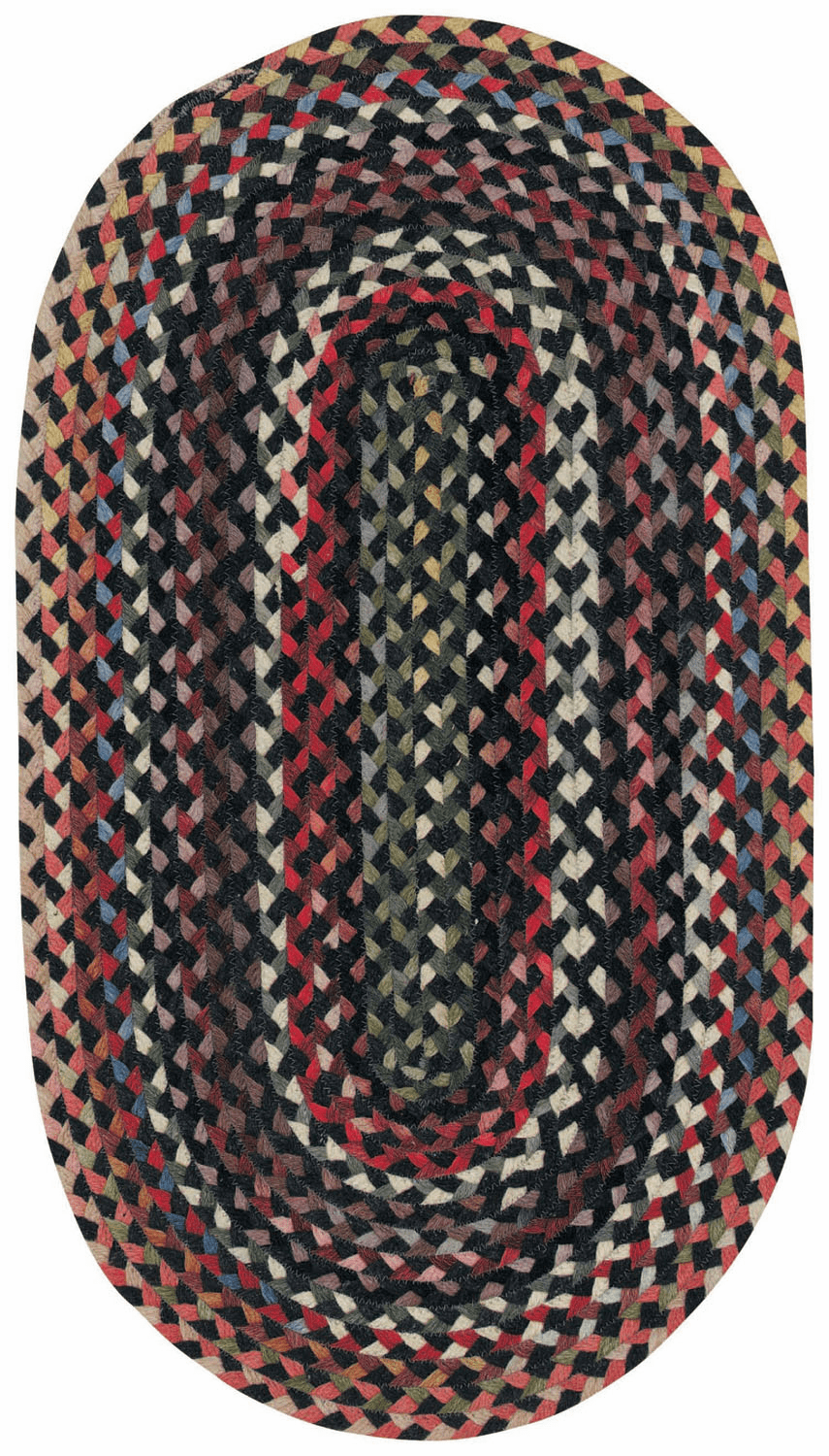 Hand-Braided Darkest Black Rug