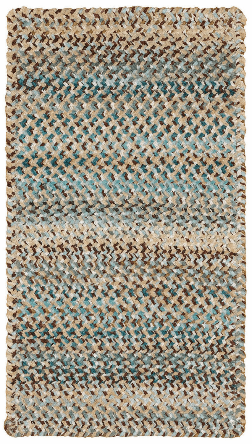 Hand-Braided Deep Blue Rug