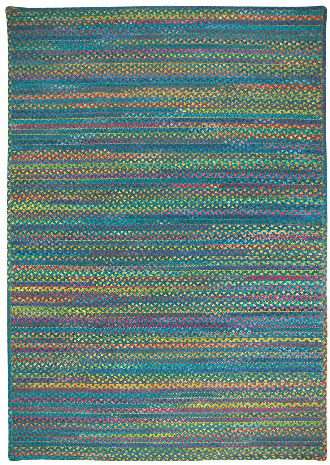 Hand-Braided Deep Green Rug