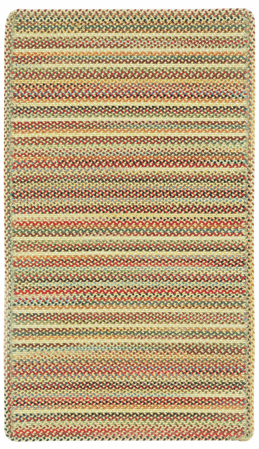 Hand-Braided Gold Rug
