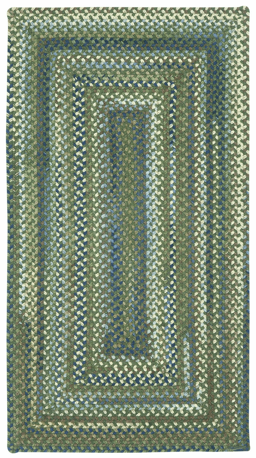 Hand-Braided Green Fields Rug