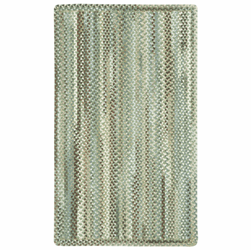 Hand-Braided Green Olive Rug