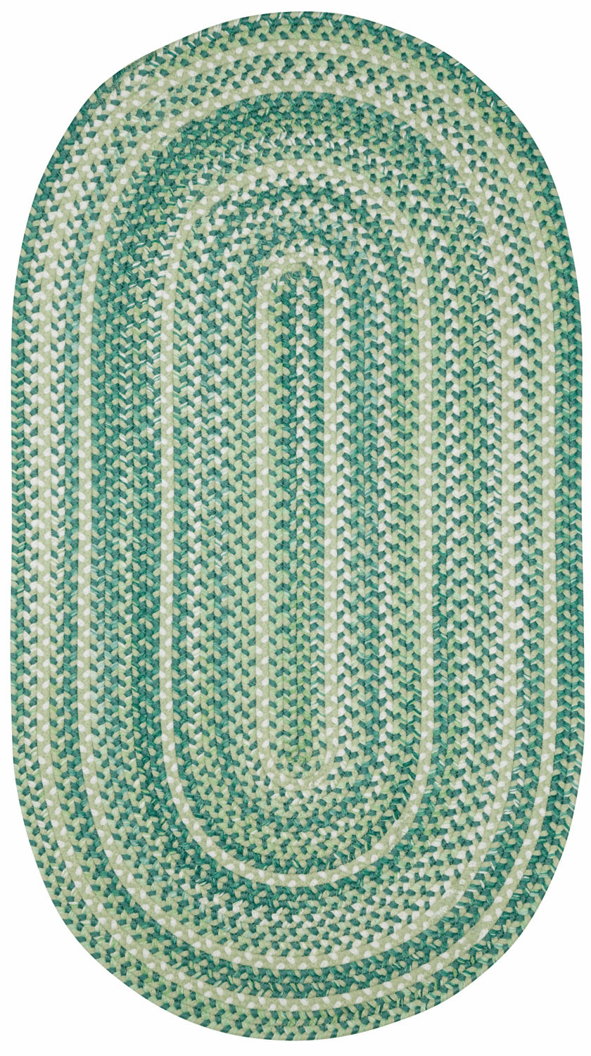 Hand-Braided Green Rug
