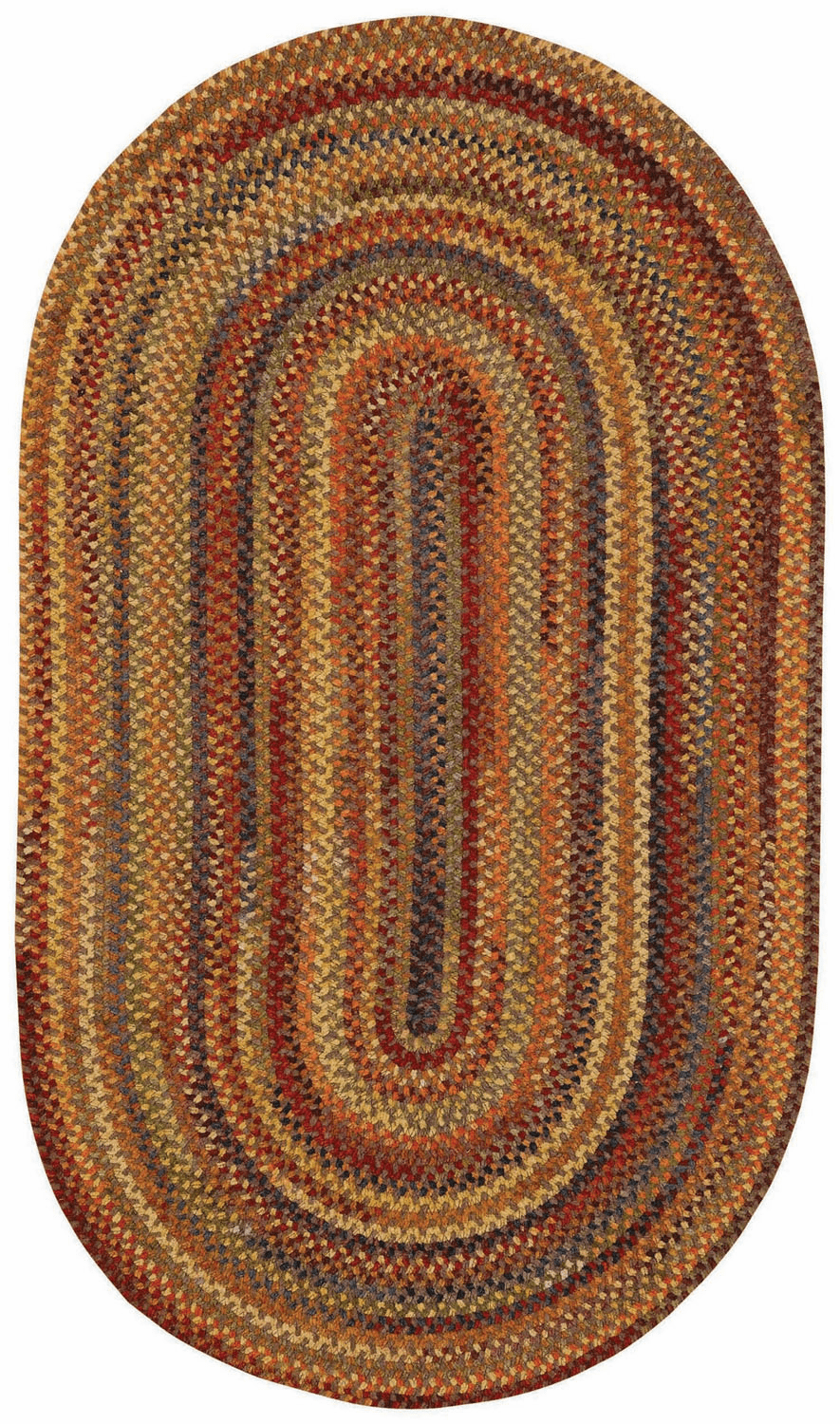 Hand-Braided Grey Rug