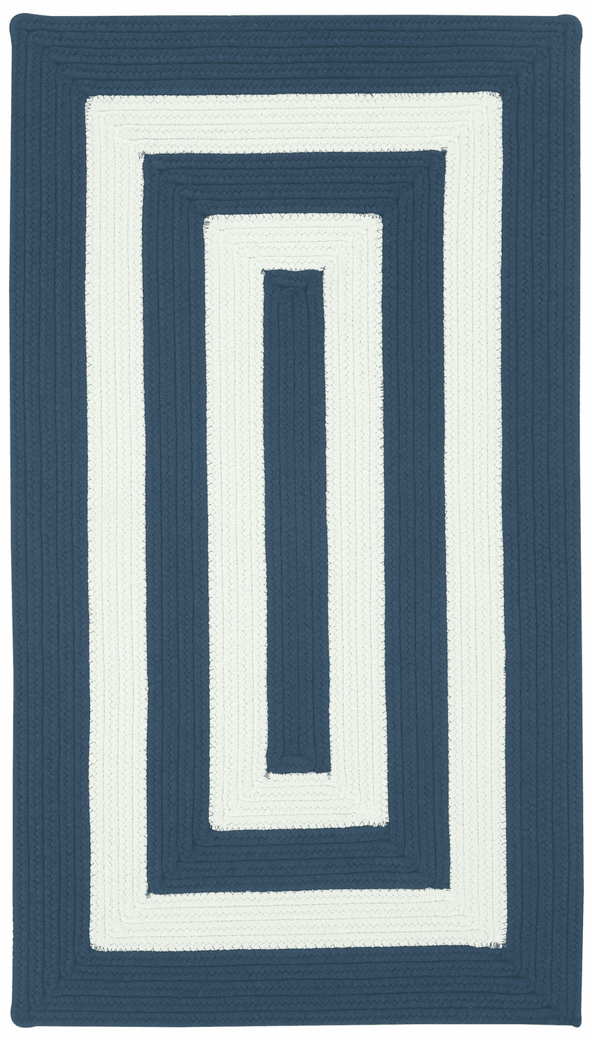 Hand-Braided Indigo and White Rug