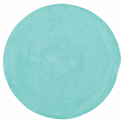 Hand-Braided Island Blue Rug