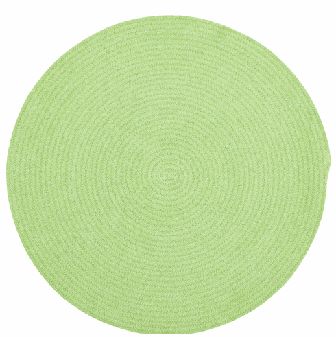 Hand-Braided Key Lime Rug