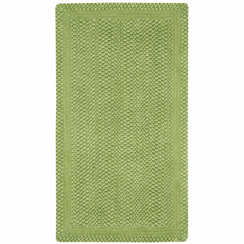 Hand-Braided Leaf Green Rug