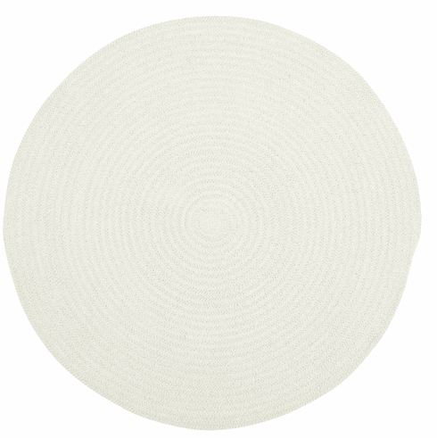 Hand-Braided Light Beige Rug