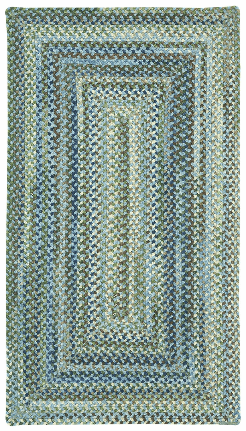 Hand-Braided Light Blue Rug