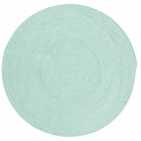 Hand-Braided Light Green Rug