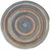 Hand-Braided Medium Blue Rug