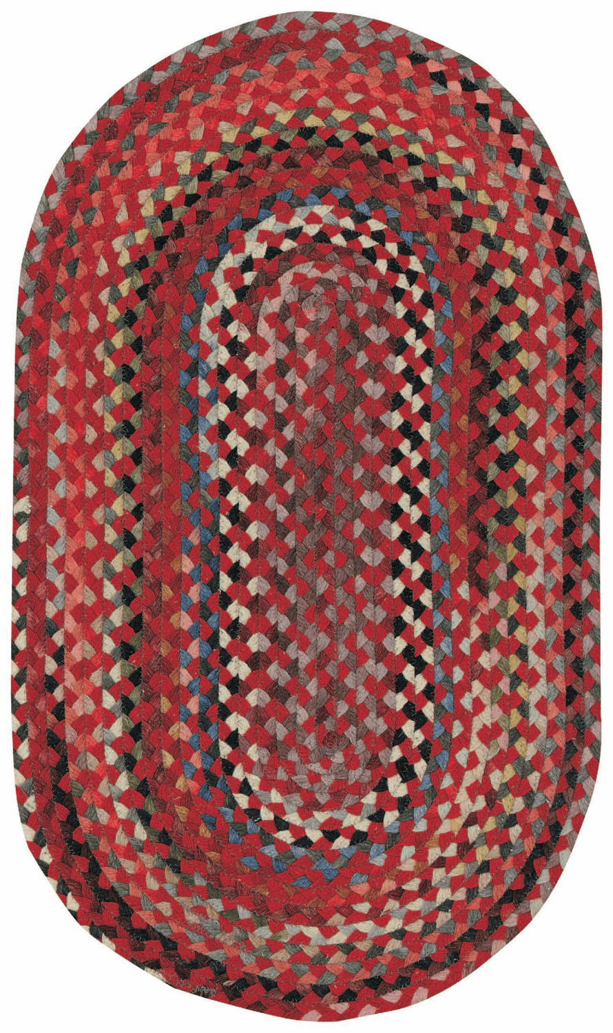 Hand-Braided Medium Red Rug