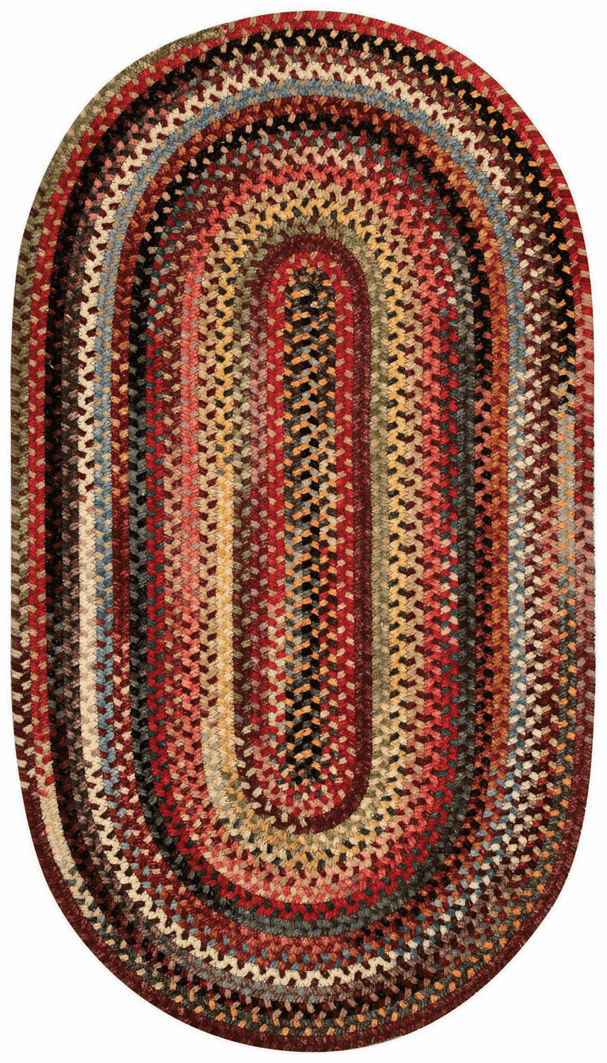 Hand-Braided Multicolor Rug
