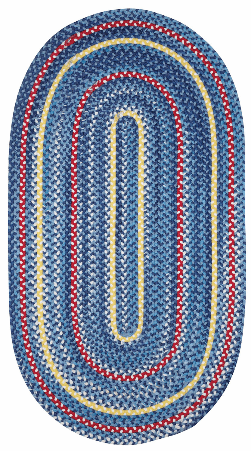 Hand-Braided Navy Rug