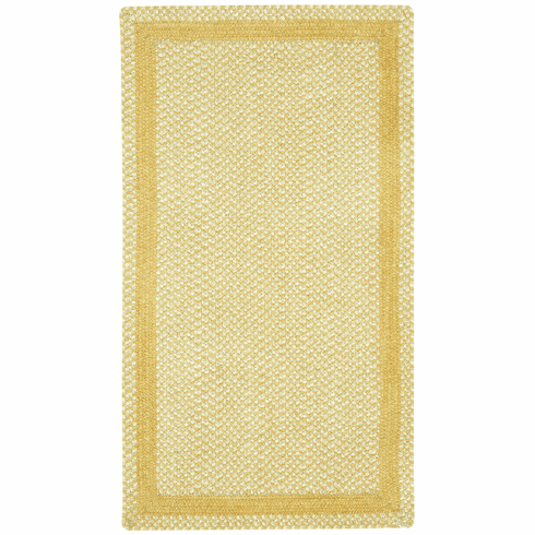 Hand-Braided Pale Gold Rug